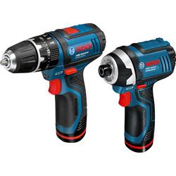 Bosch GSB 10.8-2-Li + GDR 10.8-Li 10.8V Li-Ion Cordless Twin Pack