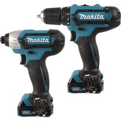 Makita CLX201AJ Li-Ion 10.8V Cordless Twin Pack