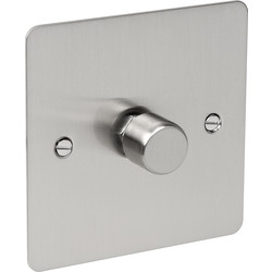 Flat Satin Chrome Dimmer Switch