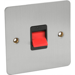 Flat Plate Satin Chrome 45A DP Switch