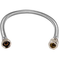 flexible tap connector 15mm x 1 2 10mm bore 500mm. Black Bedroom Furniture Sets. Home Design Ideas