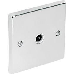 Chrome TV / Satellite Socket Outlet