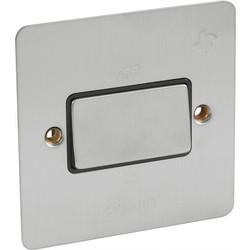 Flat Plate Satin Chrome 10A 3 Pole Fan Isolator