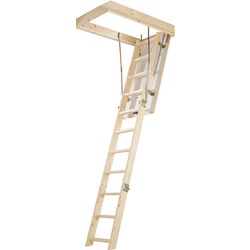 Werner Timber Complete Loft Ladder 3 Section Toolstation