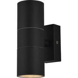 IP44 Up & Down Black Wall Light