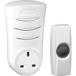 Byron Wireless Plug-thru Door Chime Kit