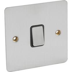 Flat Plate Satin Chrome 10A Switch