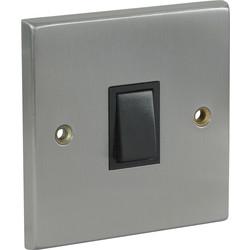 Satin Chrome / Black Switch 10A