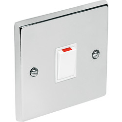 Chrome Double Pole Switch 20A