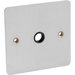 Flat Plate Satin Chrome 20A Flex Outlet Plate