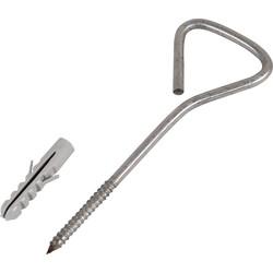 Stainless Steel Screw-In Wallstarter Tie