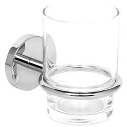 Polished Tumbler Holder & Glass