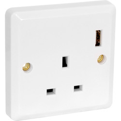 13A Socket with USB Charger