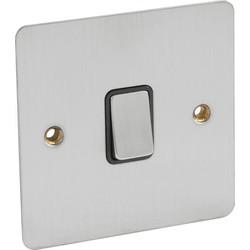 Flat Plate Satin Chrome DP Switch 20A