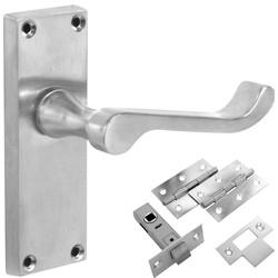 satin door handles satin chrome round door handles more. Black Bedroom Furniture Sets. Home Design Ideas