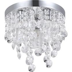 Maria LED G9 3 Light Crystal Dropper Ceiling Light IP44