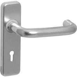 round bar satin handle lock toolstation. Black Bedroom Furniture Sets. Home Design Ideas