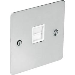 Flat Plate Polished Chrome Telephone Socket