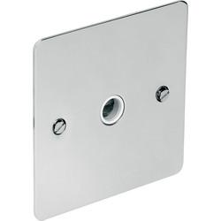 Flat Plate Polished Chrome 20A Flex Outlet Plate