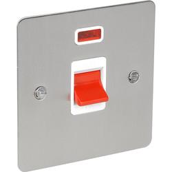 Flat Satin Chrome 45A DP Switch