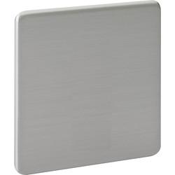 Screwless Flat Brushed Steel Blanking Plate