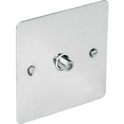 Flat Plate Polished Chrome TV / Satellite Socket