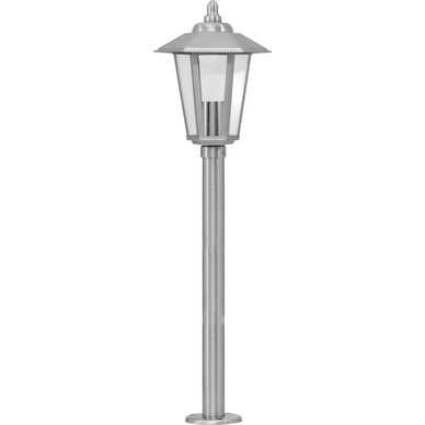 stainless steel victorian style post light 800mm