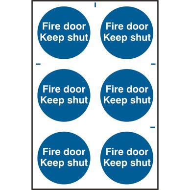 Pvc Fire Door Sign Fire Door Keep Shut Toolstation