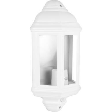 60W PIR Half Lantern White Toolstation