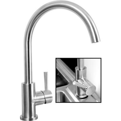 alva stainless steel kitchen sink mixer tap. Black Bedroom Furniture Sets. Home Design Ideas