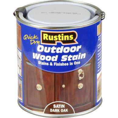 Rustins Outdoor Wood Stain Dark Oak 500ml Toolstation
