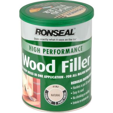 ronseal high performance wood filler natural 1kg. Black Bedroom Furniture Sets. Home Design Ideas