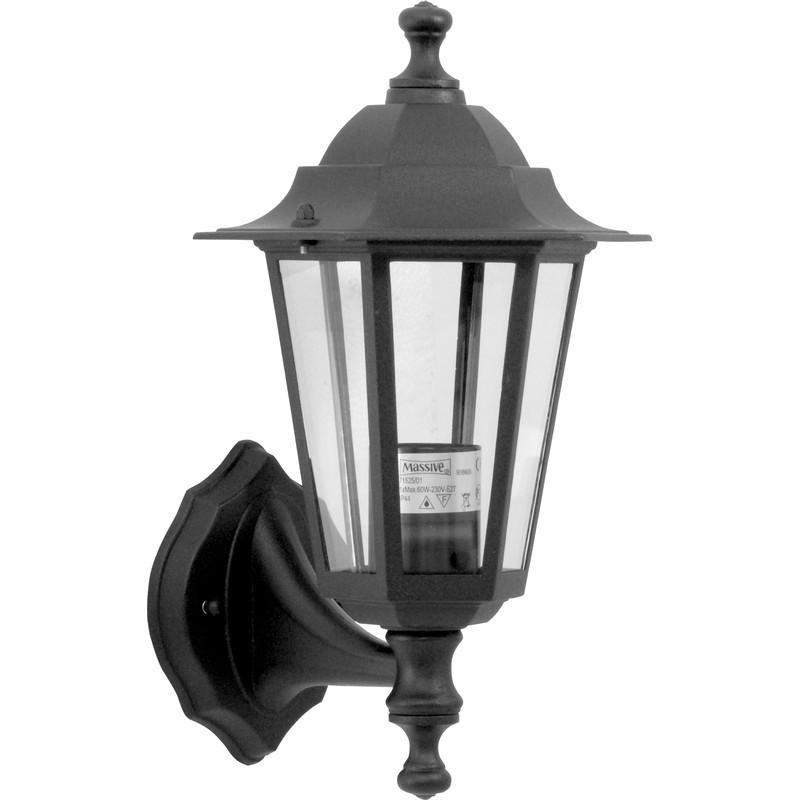 victorian style lantern black 60w es toolstation