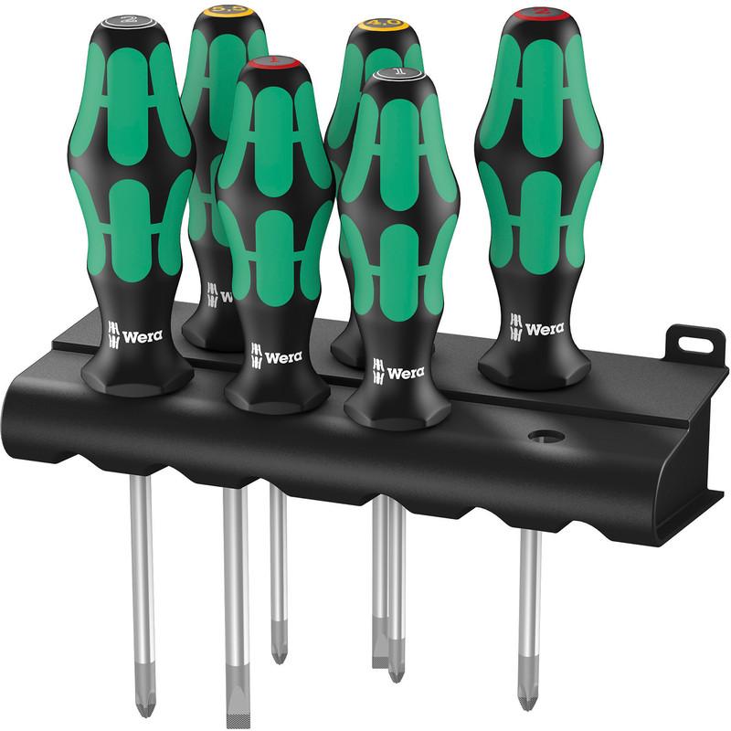 wera kraftform plus lasertip screwdriver set 6 piece toolstation. Black Bedroom Furniture Sets. Home Design Ideas