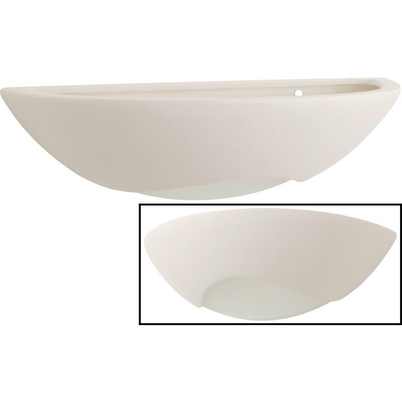 Wall Light Ceramic Uplighter : Natune Ceramic Wall Uplighter - Toolstation
