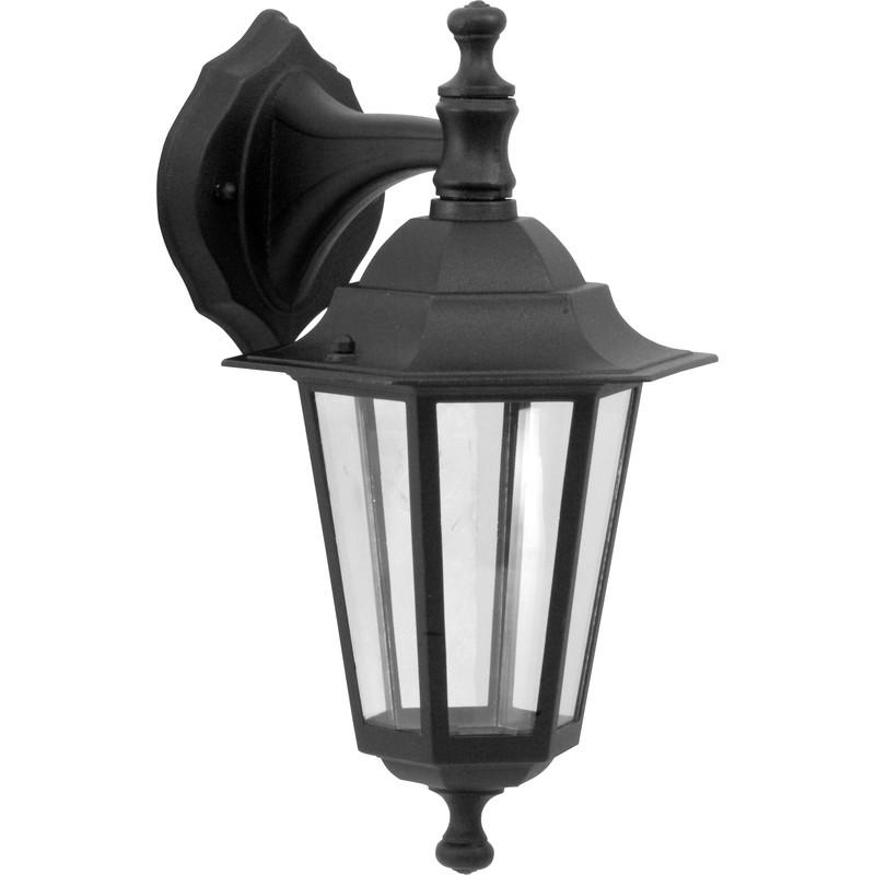 victorian style hanging lantern black 60w es toolstation