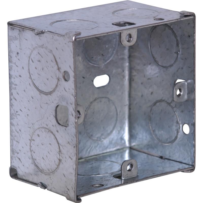 Metallic Electrical Boxes : Metal box gang mm toolstation