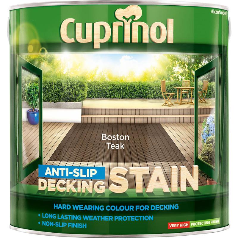 Cuprinol Anti Slip Decking Stain 2 5L Boston Teak Toolstation
