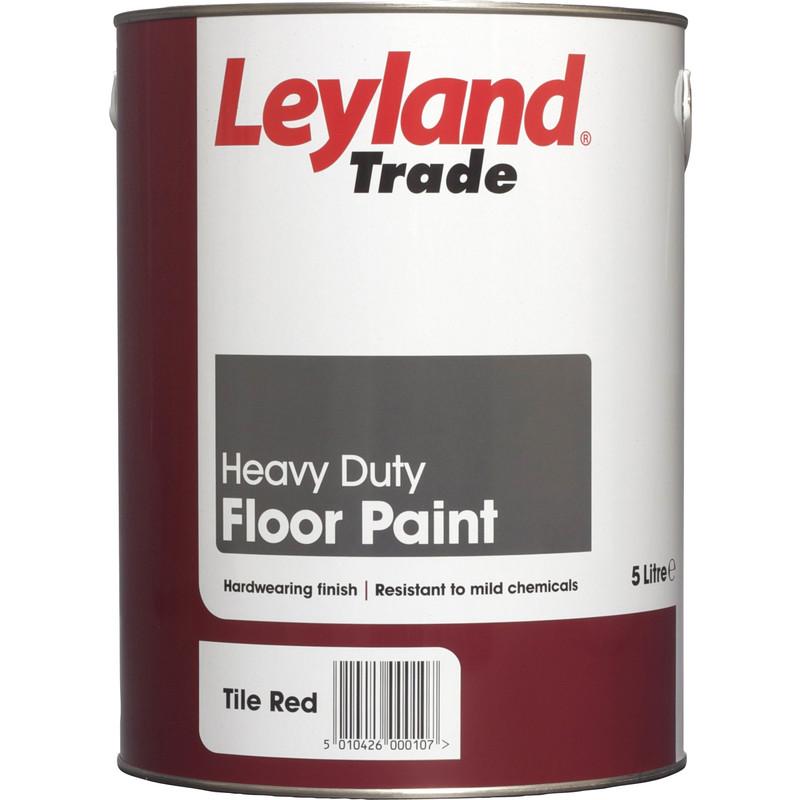 Leyland Trade Floor Paint Tile Red 5l Toolstation