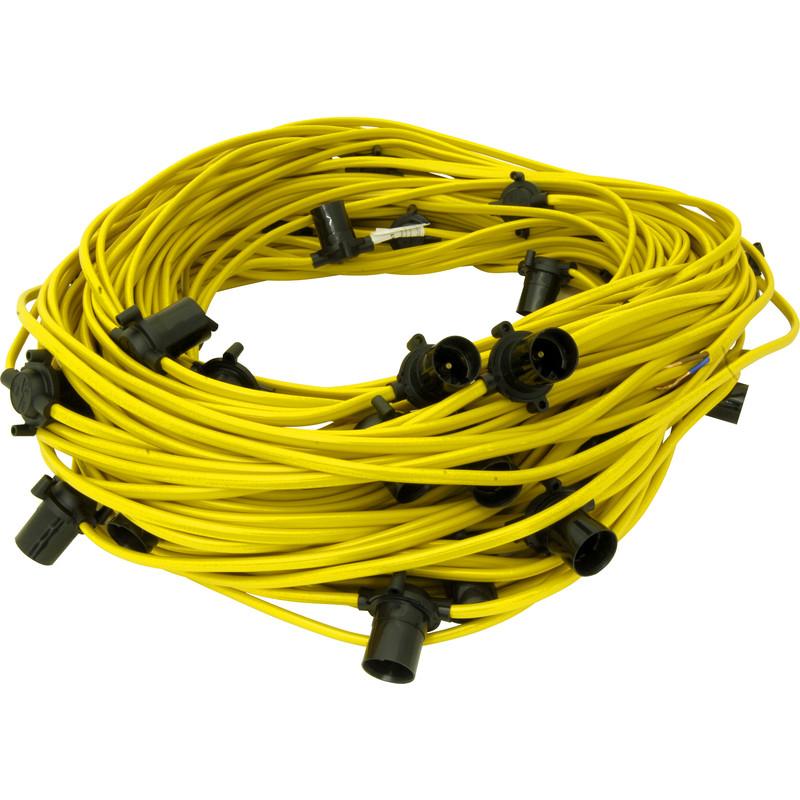 Construction Site String Lights: Festoon String 110V 100m ES Lamp 33 Holders