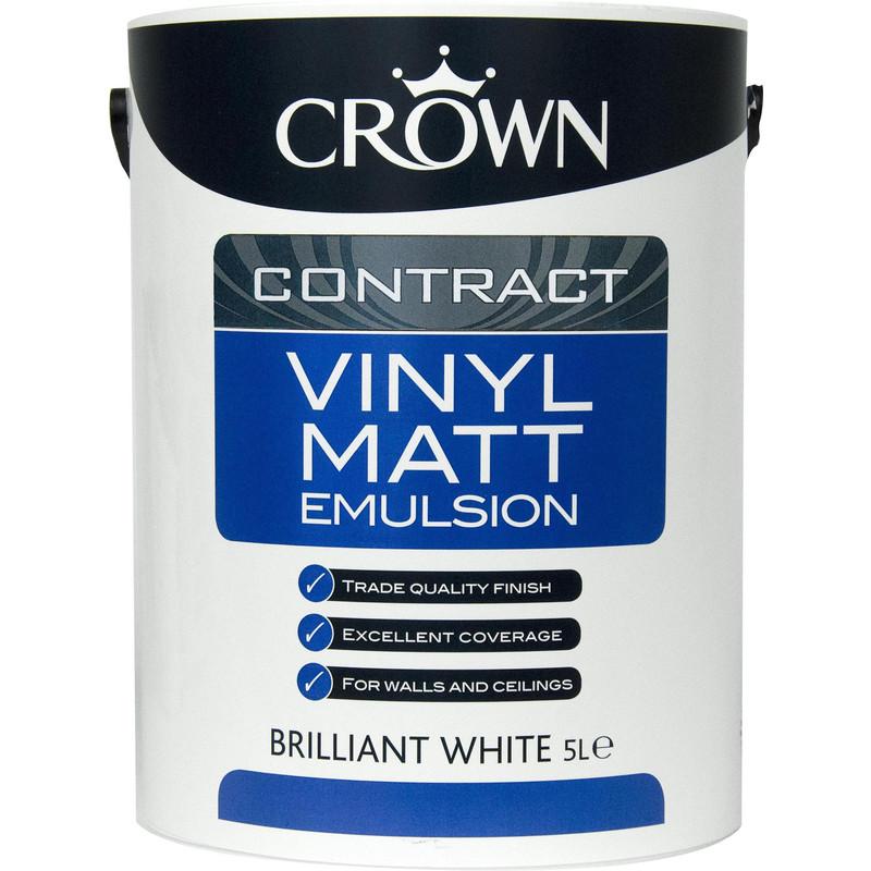 Crown Contract Vinyl Matt Emulsion Paint 5L