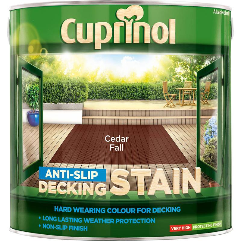 Cuprinol Anti Slip Decking Stain 2 5l Cedar Fall Toolstation