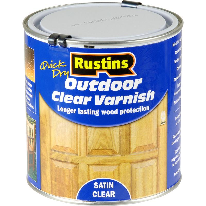 rustins quick dry outdoor clear varnish satin 1l toolstation