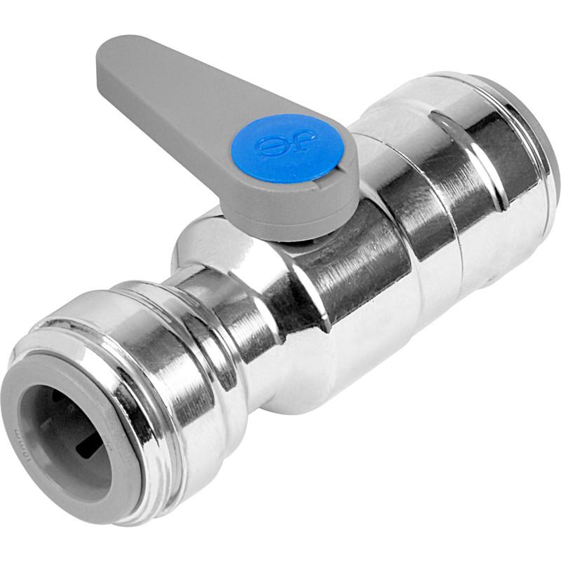 NEW 2 X Plumbing JG Speedfit Chrome Plated Brass Ball Valve 15mm FreePost.UK