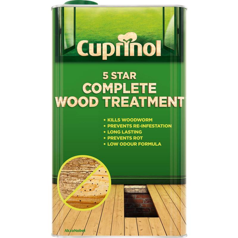 Cuprinol 5 Star Complete Wood Treatment 5L Clear Toolstation