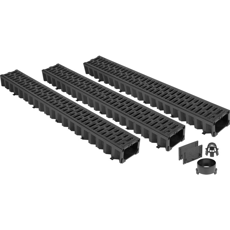 Aco hex drain garage pack 3m toolstation for Drain de garage installation