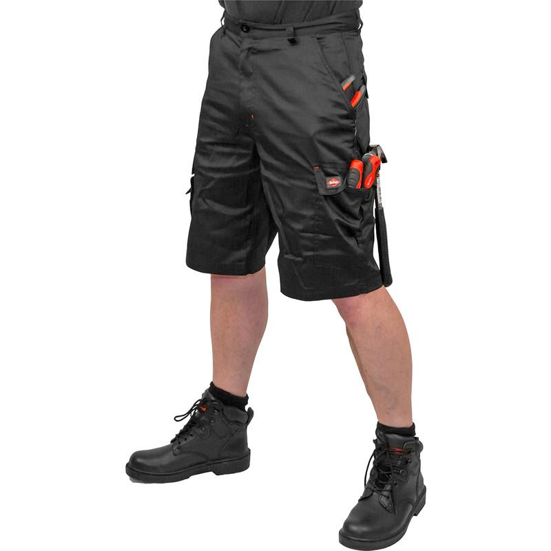 lee cooper cargo shorts 36quot black toolstation