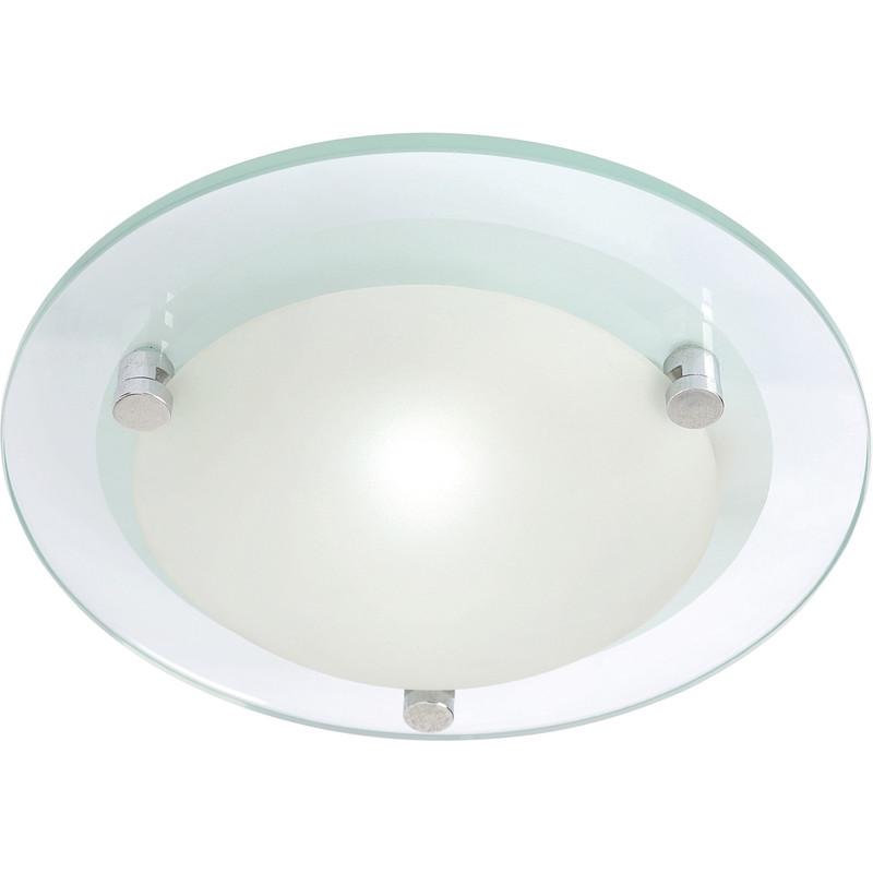 Bathroom Light Fittings Toolstation: Diablo G9 LED Glass Flush 240mm 1 X 2.5W 250lm