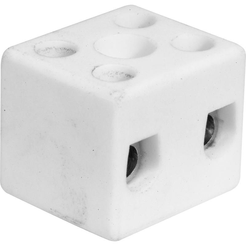 NEW 5 X Porcelain Connector 5A 2 Way Each FreePost UK Seller