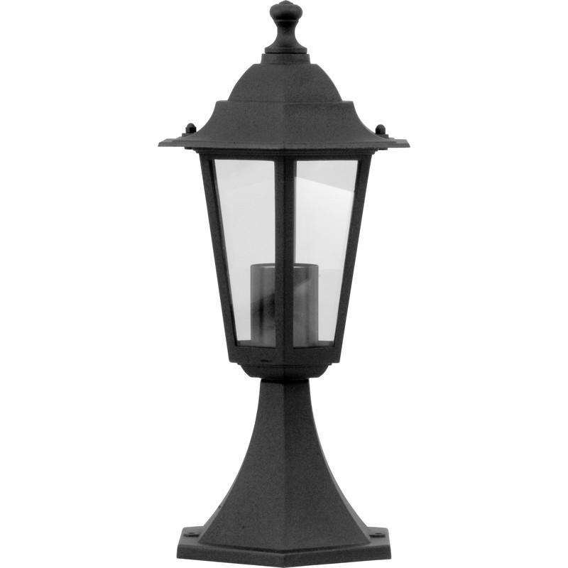 Victorian style pedestal lantern black 60w es toolstation for Victorian style exterior lighting